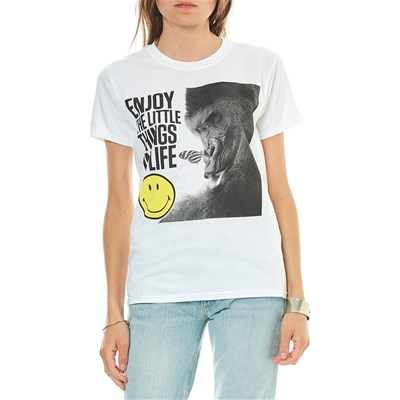 Smiley Enjoy the little things in life - t-shirt manches courtes - blanc