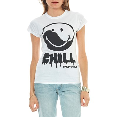 Smiley Chill - t-shirt manches courtes - blanc