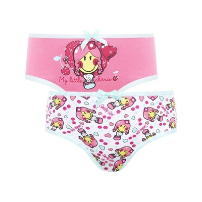 Pomm'poire Smiley - lot de 2 boxers imprimés - multicolore