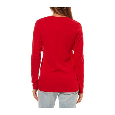 Benetton T Rouge Manches shirt Longues wYXq4YH