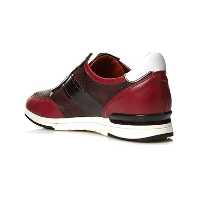 In Gap Pelle Bordeaux Elizabeth Sneakers Stuart 7qUSqBZ