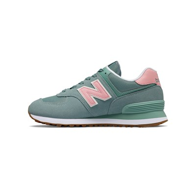 NEW BALANCE WL574 B - Snackers in pelle bimateriale - verde