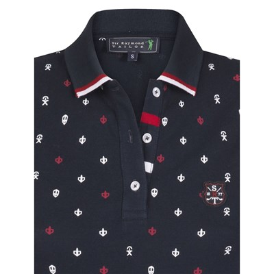 Polo Tailor Sir Courtes Blu Placement Raymond Scuro Manches T1v1nHtO