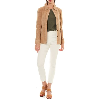 Beige Giacca Isaco Pelle In Isaco Giacca In Pelle BPtqn06
