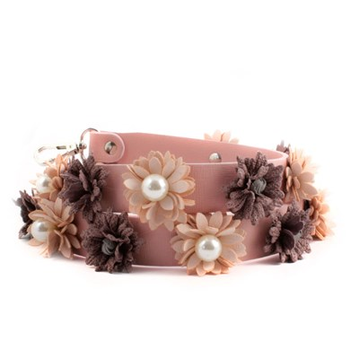 Exclusif Paris bandoulière en cuir - rose