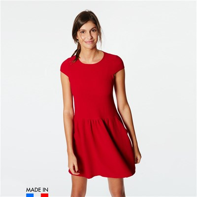 BrandAlley La Collection Kaliss - Robe Corolle froncée à la taille - rouge