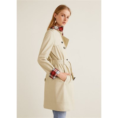 f3262228b16e6 ... Boutonnage Mango Double Trench Double Boutonnage Beige Trench Mango  Hqn5nzT ...