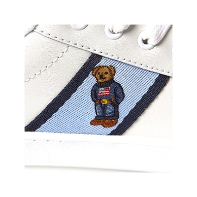 RALPH LAUREN KIDS Quilton Bear - Sneakers - bianco