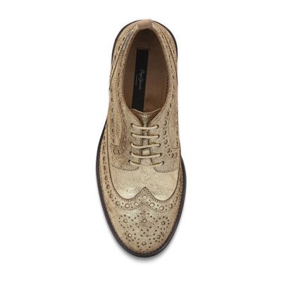 PEPE JEANS FOOTWEAR Hackney - Lederderbies - goldfarben