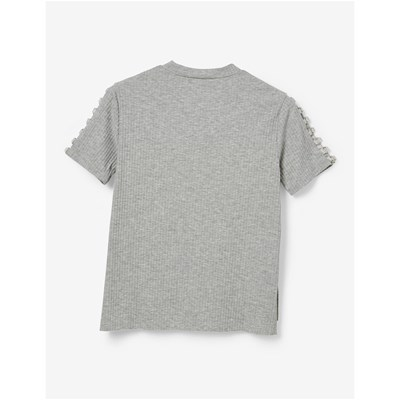 Chine shirt Jennyfer Tee Gris Avec Oeillets 4nXqwA