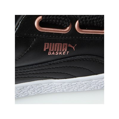 Sneakers Nero In Puma Suede Leather Pelle Heart R0RYIxt