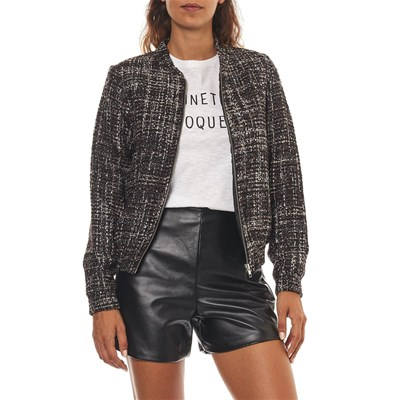 BEST MOUNTAIN Bombers en tweed - noir