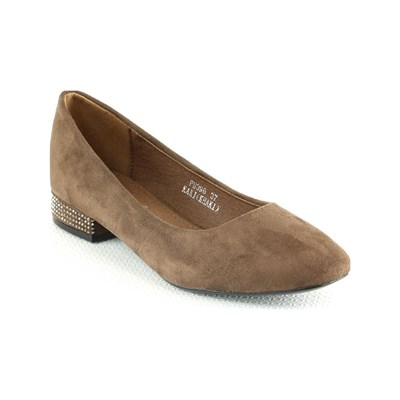 R AND BE Ballerines - tabac