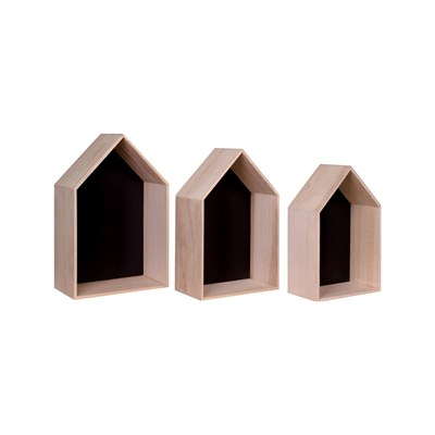 House Nordic verona - lot de 3 étagères - naturel