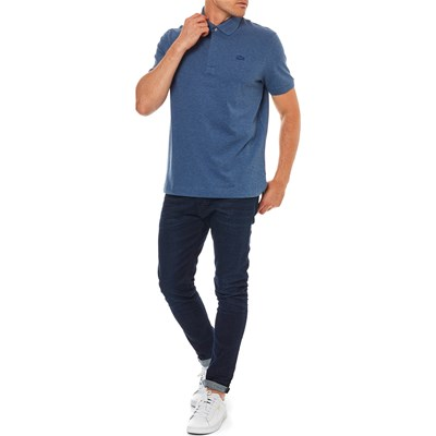 Courtes Lacoste Polo Chiné Manches Grigio wEpgv