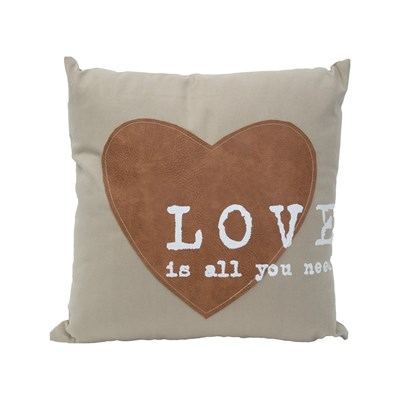 Mauro Ferretti love is all you need - coussin carré - blanc cassé