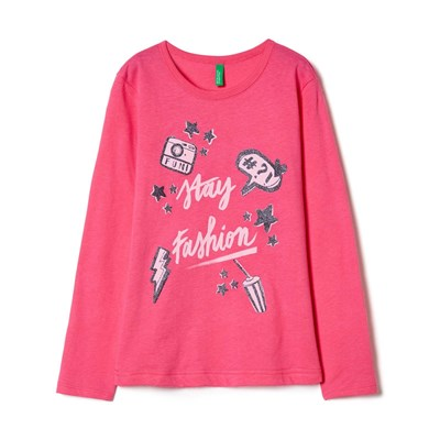 BENETTON Zerododici - Sweat-shirt - rose