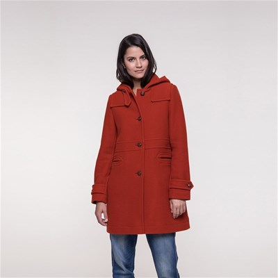 TRENCH AND COAT Manteau 75% laine reliefé - rouge