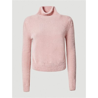 Guess Pull col roulé effet fourrure - rose   BrandAlley 665922cd70a