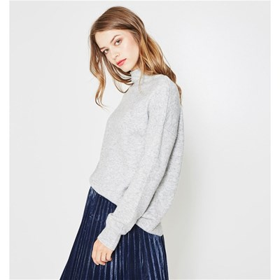 Pull Montant Col Clair Promod Gris BnSdxXZBR