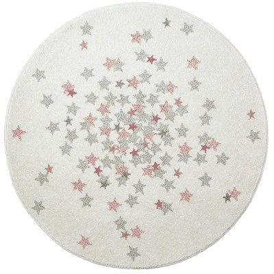 Art For kids nova - tapis rond - rose