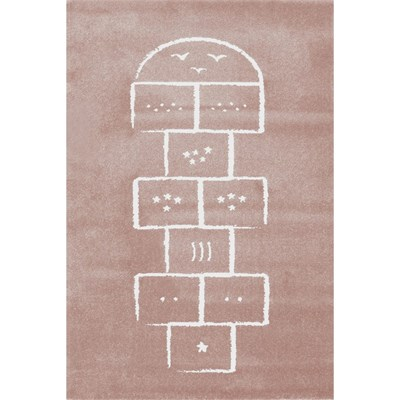 Art For kids marelle - tapis - rose