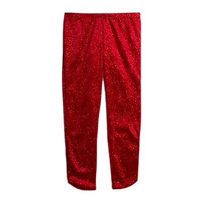 BENETTON Legging à paillettes - rouge
