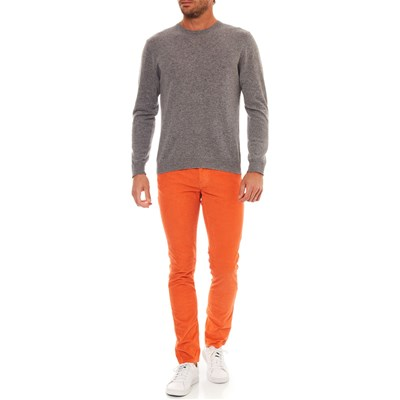 BENETTON Pantalon en velours côtelé - orange