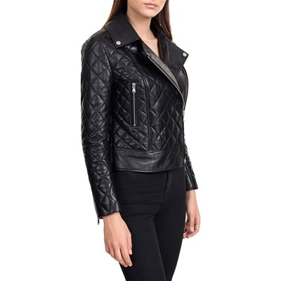 Laura Biker Leather Williams Giacca Pelle In Nero Jack qxwI8x