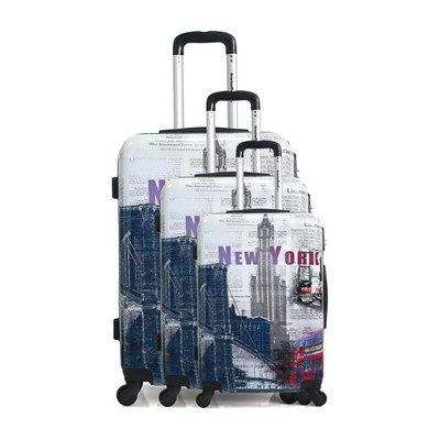 American Travel tacoma - ensemble de 3 valises 50/60/70 cm - multicolore