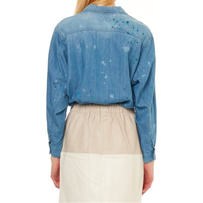 Prairy Blu Pepe A Painted Jeans Camicia Lunghe Maniche London OOn4gWTH