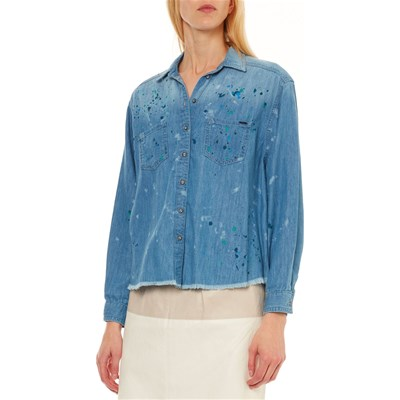 Camicia Painted Jeans Maniche Prairy Pepe Blu London A Lunghe At1xqwInw