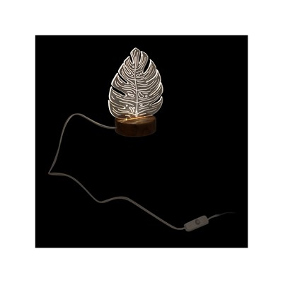 HOME DECO LIGHT Lampe LED feuille USB - blanc