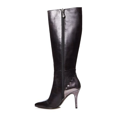 WHAT FOR Lederstiefel - schwarz