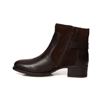 MANOUKIAN Bottines en cuir - brun