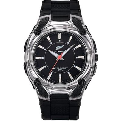 All Blacks montre avec bracelet en silicone - noir