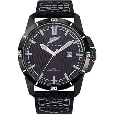 All Blacks montre avec bracelet en nylon - noir