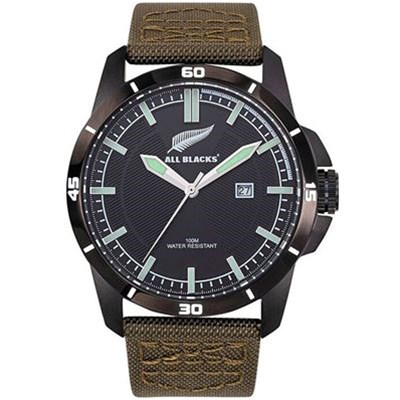 All Blacks montre avec bracelet en nylon - marron