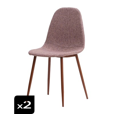 Home & living sofie - set de 2 chaises - vin