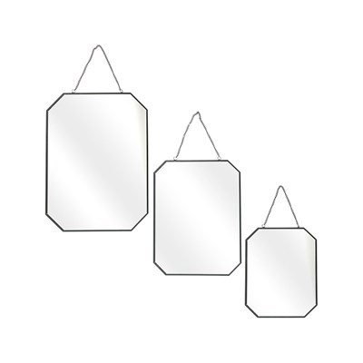 My Little market set de 3 miroirs angles obliques - noir