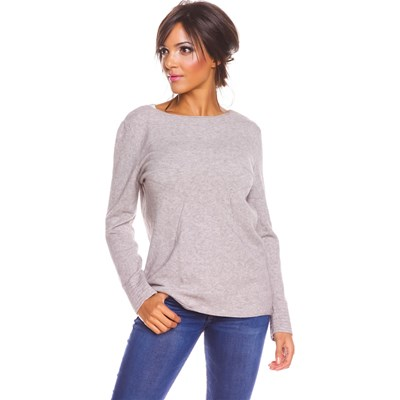 So Cachemire Freddy - Pull 10% cachemire - taupe
