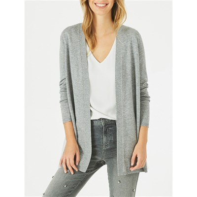 1.2.3 Please - gilet waterfall 55 % laine - gris chine