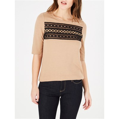 1.2.3 Baie - t-shirt manches courtes - camel