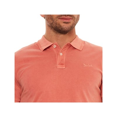 WOOLRICH Polo manches courtes - corail