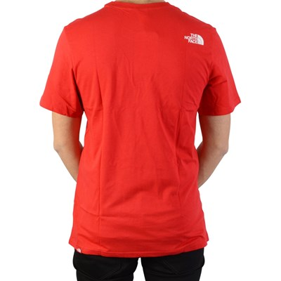 THE NORTH FACE T-shirt easy tee - rouge