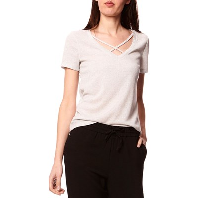 Only Darling - t-shirt manches courtes - argent