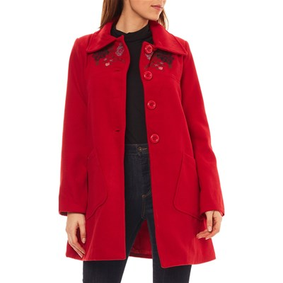 CLAUDIA FABRI Manteau - rouge