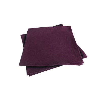 Blanc Cerise délices de lin - lot de 2 serviettes de table - prune