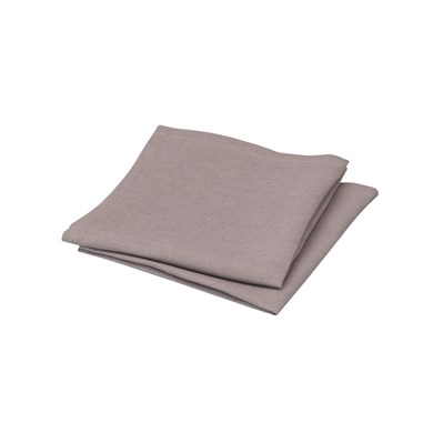 Blanc Cerise délices de lin - lot de 2 serviettes de table en lin - taupe