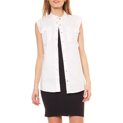 Sans Bianco Chemise Sonia Rykiel By Manches qptxxTwO
